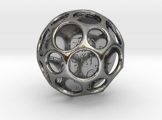 ZWOOKY Style 3413  -  Sphere in Fine Detail Polished Silver