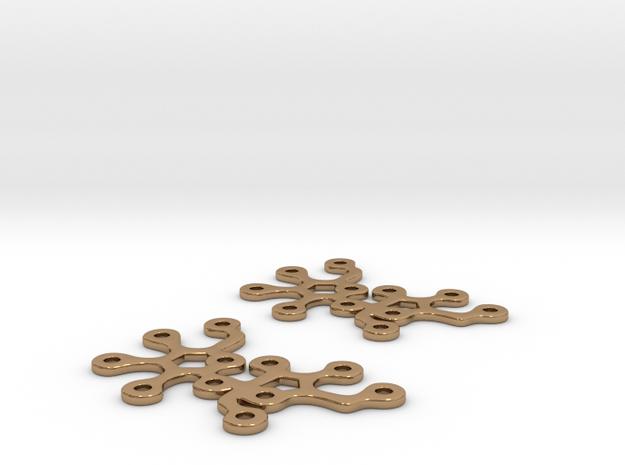 Sucrose earrings in Polished Brass