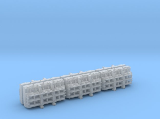 Gothic Spaceship Launch Bay Modules [Pack of 6] in Smooth Fine Detail Plastic
