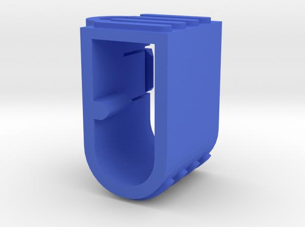 EC5 Plug Holder Vertical  in Blue Processed Versatile Plastic
