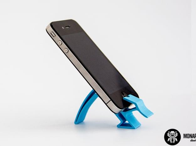 Smartphone Holder in Blue Processed Versatile Plastic