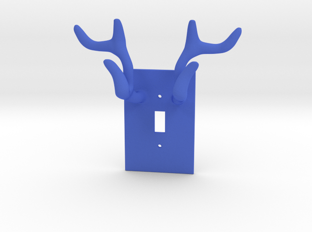 Horn jewelry Hanger  in Blue Processed Versatile Plastic