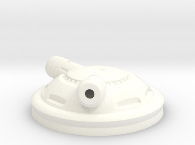 LeftCyborgEar in White Processed Versatile Plastic