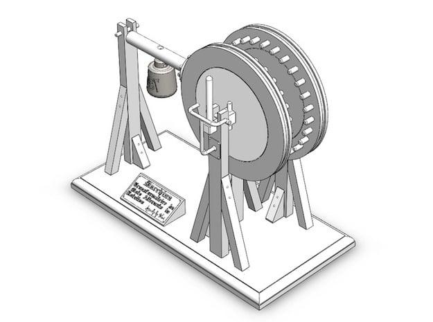 Leonardo da Vinci's Reciprocating Motion Machine in White Natural Versatile Plastic