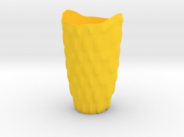 """Vase 'Bubbles' - 20cm / 7.90"""" in Yellow Processed Versatile Plastic"""