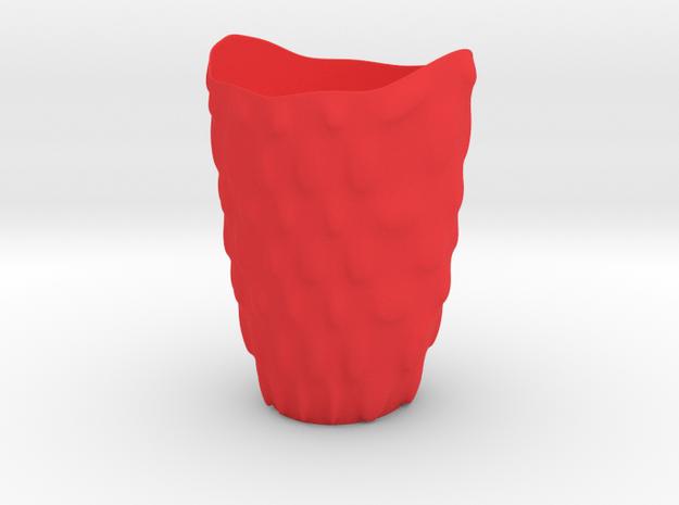 """Vase 'Bubbles' - 14cm / 5.10"""" in Red Processed Versatile Plastic"""