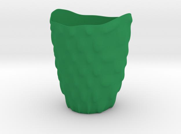 """Vase 'Bubbles' - 11cm / 4.30"""" in Green Processed Versatile Plastic"""