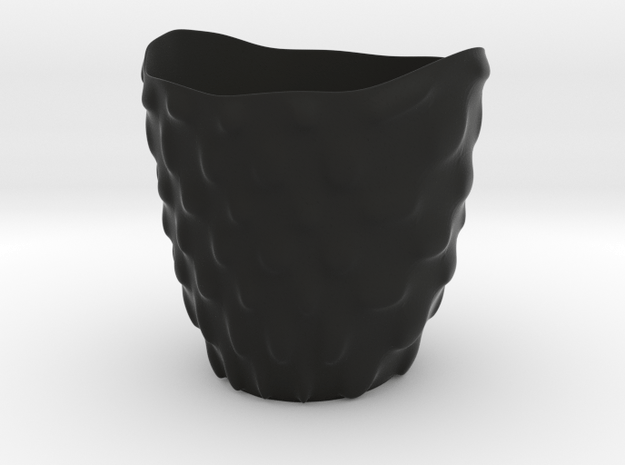 "Vase 'Bubbles' - 8cm / 3.15"" in Black Natural Versatile Plastic"