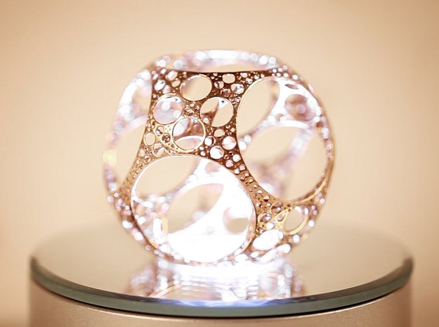 Apollonian Octahedron - Thin in Polished Bronze
