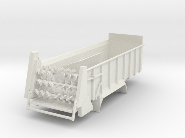 1/64 Manure spreader short frame- Horizontal beate in White Natural Versatile Plastic