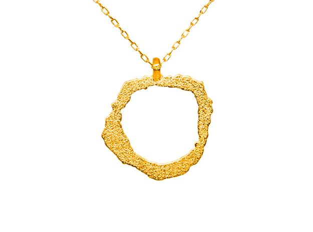 Vesuvius Pendant in Polished Gold Steel