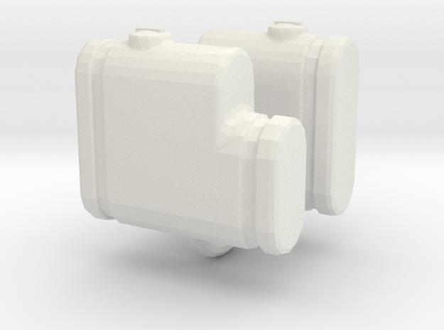 1/64 250 gallon saddle tanks, set of 2 in White Natural Versatile Plastic