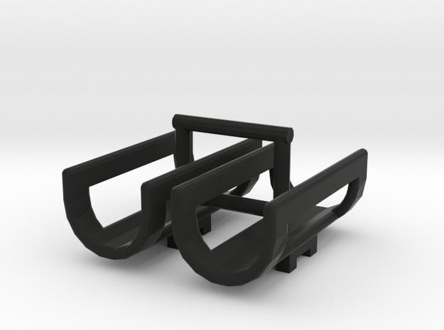 1/64 Saddle Tank Cradles in Black Natural Versatile Plastic