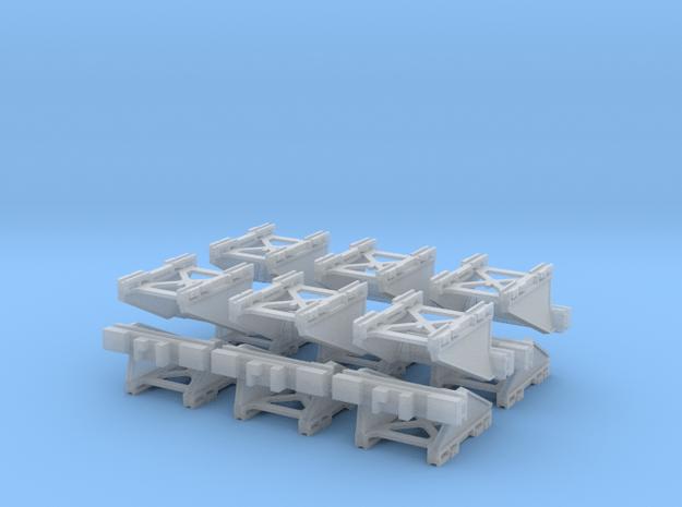 12 Modern N Gauge Buffers 148th scale in Smooth Fine Detail Plastic