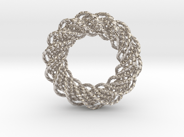 An Homage to Pi in Rhodium Plated Brass