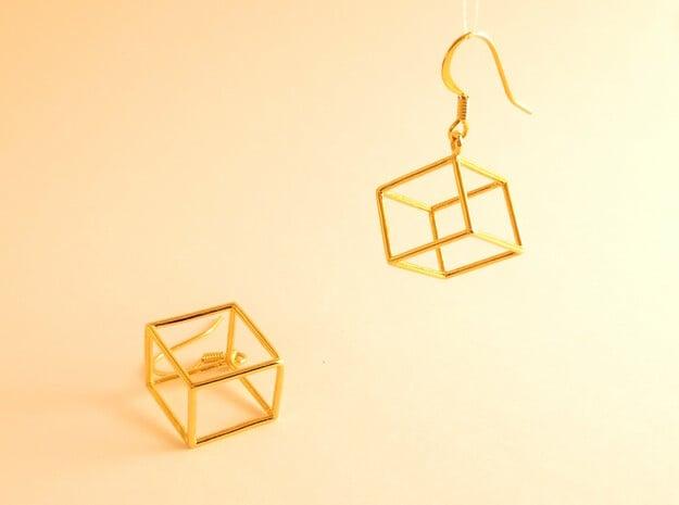 Earth earrings in 18k Gold Plated Brass