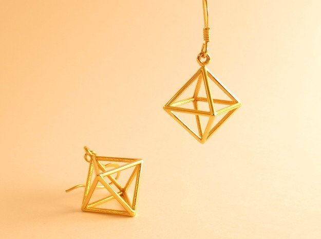 Air earrings in 18k Gold Plated Brass