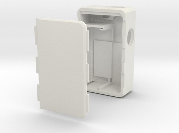 MARK IX -Meccanica- 18500 battery in White Natural Versatile Plastic