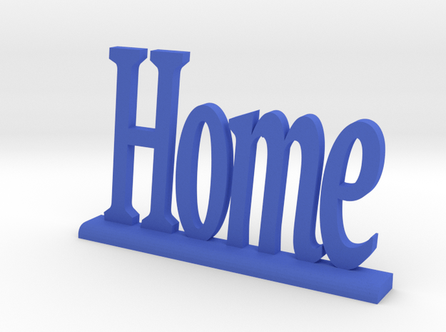 "Letters 'Home' - 7.5cm / 3.00"" in Blue Processed Versatile Plastic"