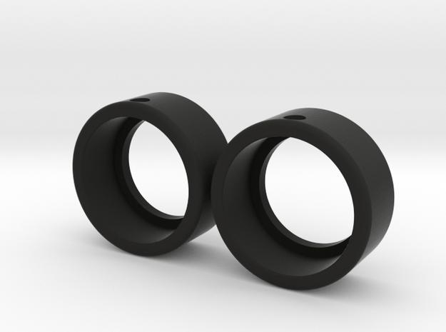 Zero Grip Front Tire for 15x8 Wheels ~19.5mm Dia in Black Natural Versatile Plastic