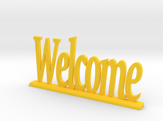 """Letters 'Welcome' 7.5cm / 3"""" in Yellow Processed Versatile Plastic"""