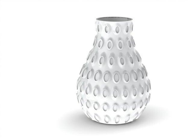 Vase 003 in White Natural Versatile Plastic