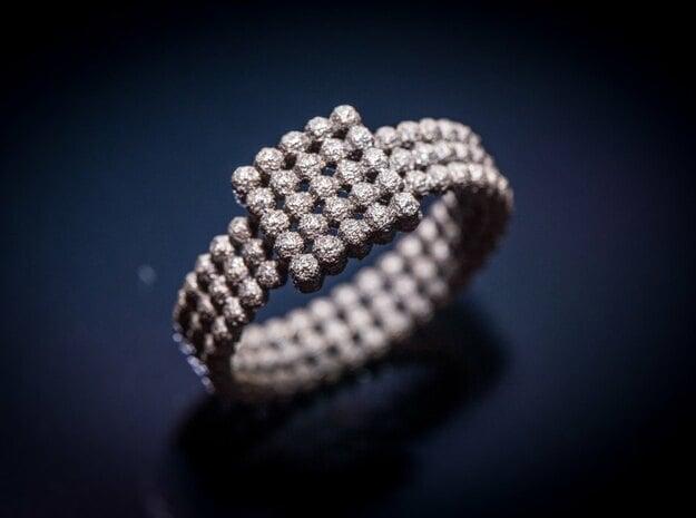 Spheroid ring in Matte Black Steel