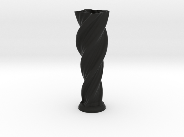 "Vase 'Anuya' - 30cm / 12"" in Black Natural Versatile Plastic"