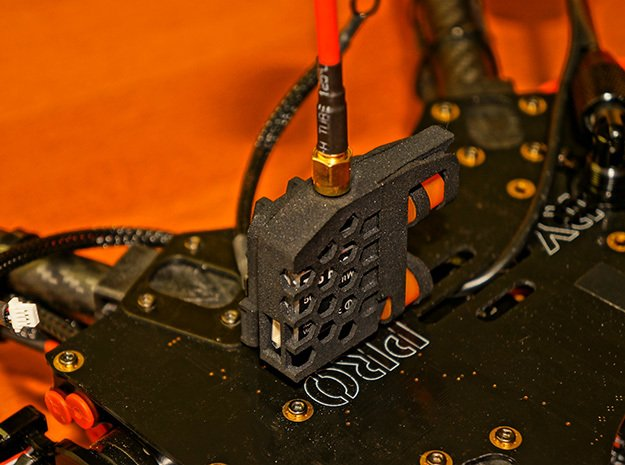Flamewheel VTx Dampener - BOSS CASE in Black Natural Versatile Plastic