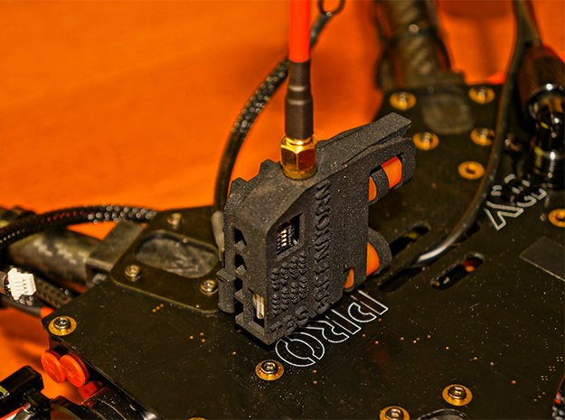 Flamewheel VTx Dampener - GREENHORN CASE in Black Natural Versatile Plastic
