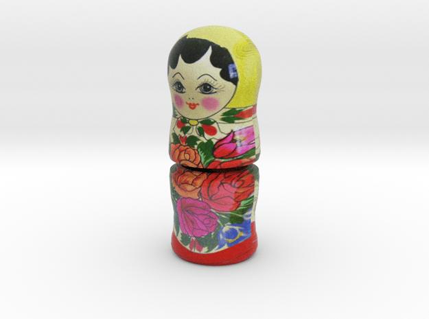 Russian Matryoshka Piece 3 / 7 in Full Color Sandstone