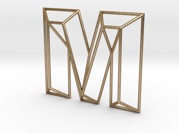 M Typolygon in Polished Gold Steel