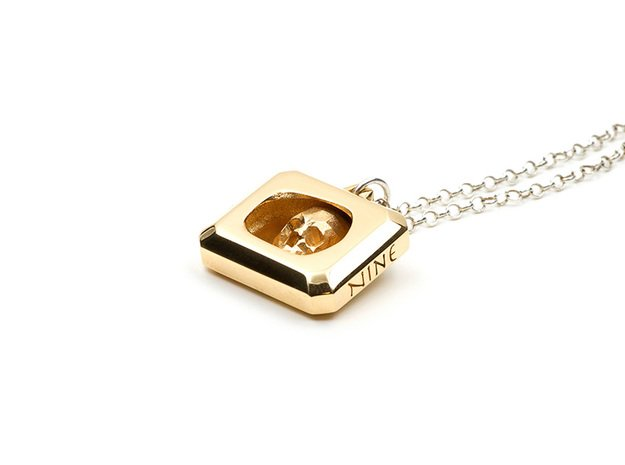 Crystal Skull Locket Pendant in 18K Gold Plated