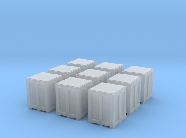 High Crates for 6mm, 1/300 or 1/285 in Smooth Fine Detail Plastic