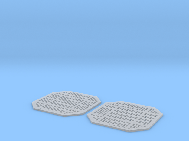 Access Panels 1mm Pair in Smooth Fine Detail Plastic