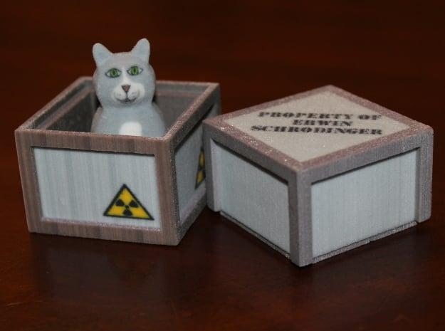 Schrödinger's Cat and Box in Full Color Sandstone