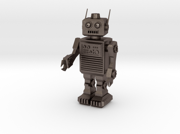 Rob the Robot in Polished Bronzed Silver Steel