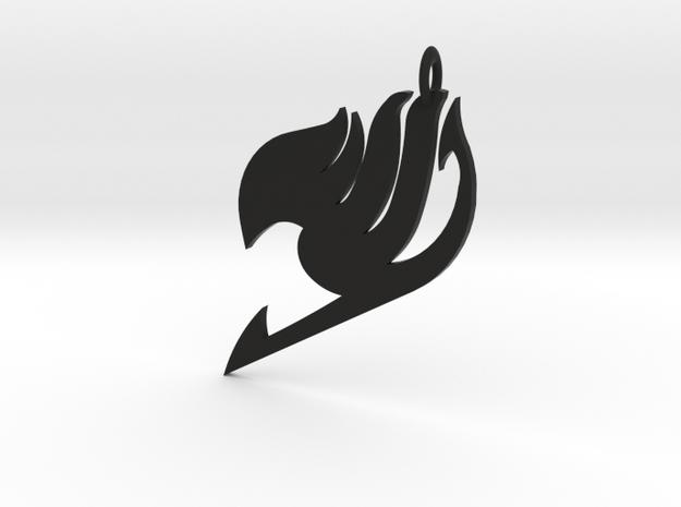 Fairy Tail Logo Pendant in Black Natural Versatile Plastic