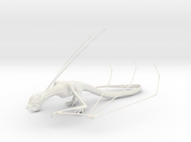 Dragon in White Natural Versatile Plastic