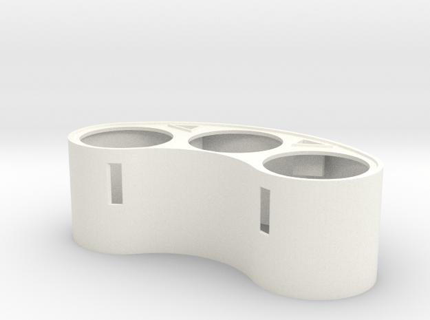 FPI004-01 AMPro Gauge Cluster W/Signals in White Processed Versatile Plastic