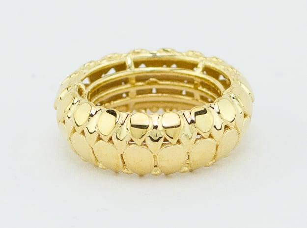 LEAFY Ring  in 18k Gold Plated Brass: Medium