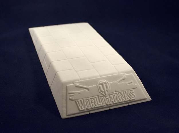 1:48 World of Tanks stand for miniatures  in White Natural Versatile Plastic
