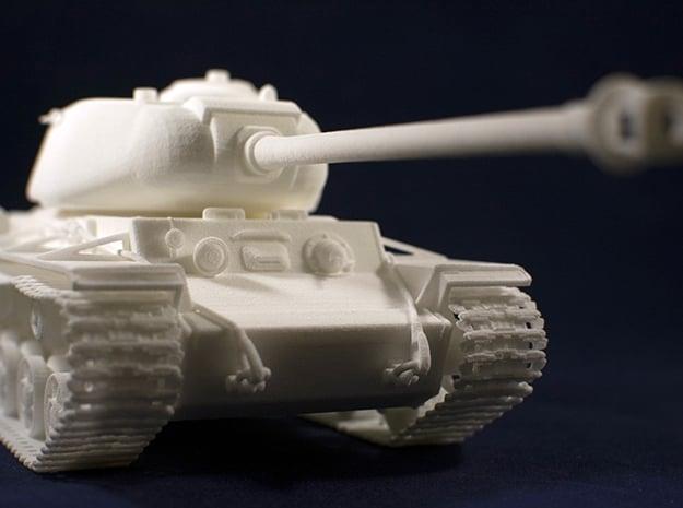 1:35 KV-1S Tank from World of Tanks game  in White Natural Versatile Plastic