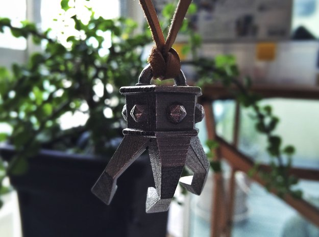 Grappling Hook Pendant 1/6 Scale in Polished Nickel Steel