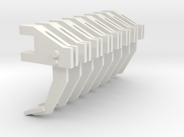 1/64 Ripper Shank, Set of 8 in White Natural Versatile Plastic