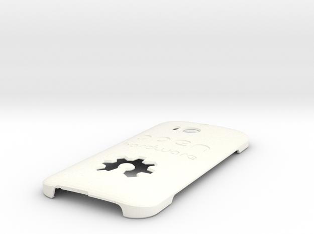 Htc One M8 Case ''Open Hardware'' in White Processed Versatile Plastic