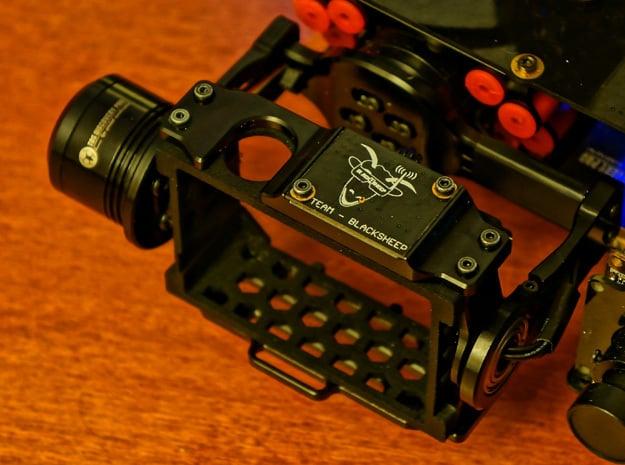 TBS Discovery PRO GoPro3/4 Gimbal Frame V2 in Black Natural Versatile Plastic
