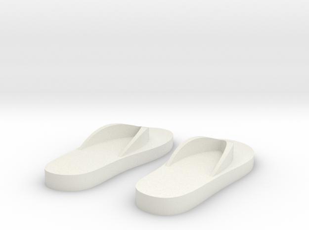 Flip-flop magnets in White Natural Versatile Plastic