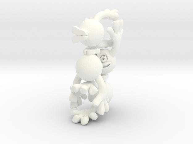 Little Linklings x4 in White Processed Versatile Plastic
