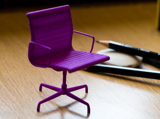 Aluminium Group Style Chair 1/12 Scale in Purple Processed Versatile Plastic